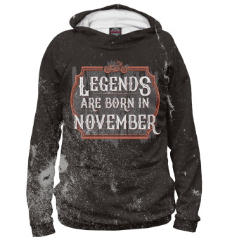 Мужское худи Legends Are Born In November