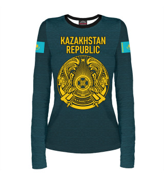 Женский лонгслив Kazakhstan Republic