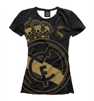 Женская футболка Real Madrid exclusive gold